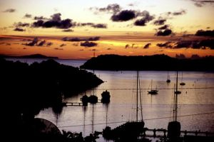Dusk over Falmouth Harbour