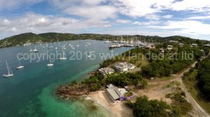 The top end of Pigeon beach more  Falmouth Harbour Antigua.
