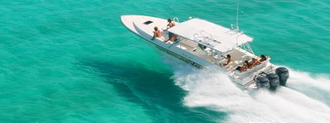 Adventure Antigua on Eli's custom built boat taking you further faster and yes its very exciting.
