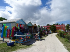 Stalls in Long Bay Beach