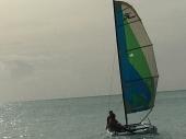 Sanchia and Calvin Sail Away