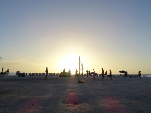 Beach Volley is Popular at Castaways