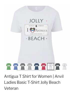 Custom Antigua TShirts